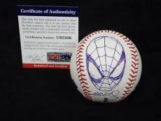 Stan Lee & Humberto Ramos Signed Auto Baseball + Spiderman Sketch Psa/dna 1/1