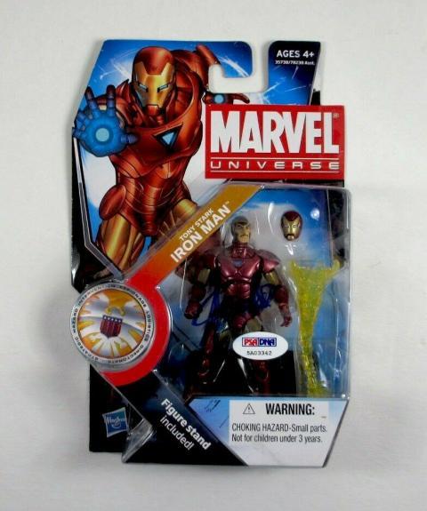 Stan Lee Iron Man Endgame Avengers Autographed Signed Action Figure PSA/DNA COA