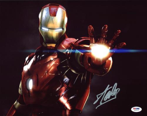 Stan Lee Iron Man Signed 11x14 Photo Autographed PSA/DNA #6A20475