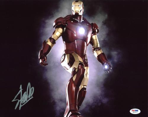 Stan Lee Iron Man Signed 11x14 Photo Autographed PSA/DNA Itp #6A20477