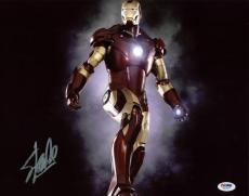 Stan Lee Iron Man Signed 11X14 Photo Marvel Comics Autographed PSA/DNA