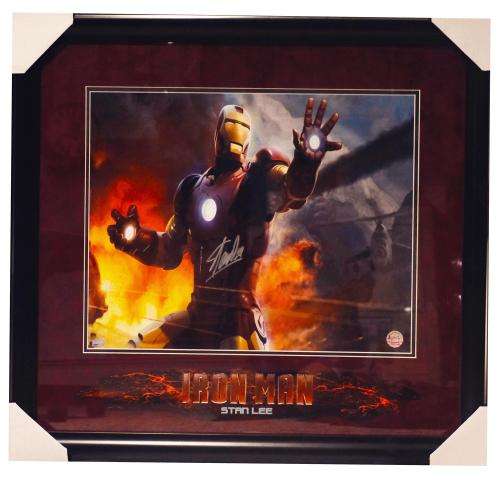 Stan Lee Iron Man Signed Autographed 16x20 Photo Framed Marvel Comics