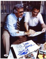 Stan Lee & John Romita Sr DUAL SIGNED 11x14 Photo Spider-Man PSA/DNA AUTOGRAPHED
