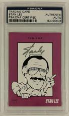 Stan Lee Marvel Autograph Trading Card Signed Marvel Limited PSA AUTHENTICATED