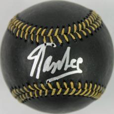 Stan Lee Marvel Comic Books Signed OML Black Baseball PSA/DNA