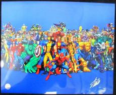 Stan Lee Marvel Comics Autographed/Signed 16x20 Inch Photo LEE HOLO SLC54199