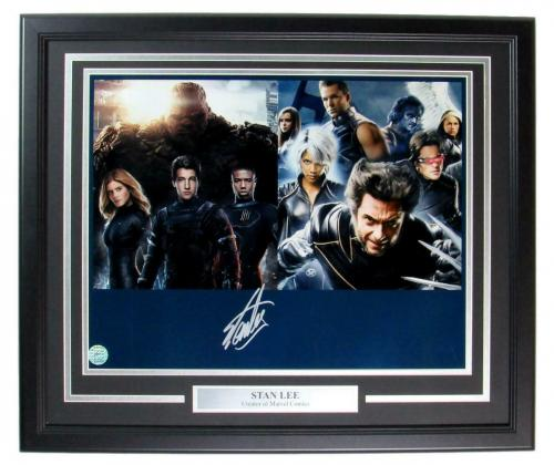 Stan Lee Marvel Comics Signed 16x20 Photo Framed Stan Lee Authentic 148405