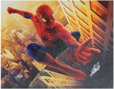 Stan Lee Marvel Comics Signed 16X20 Spider-Man Canvas PSA/DNA #W18523