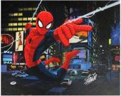 Stan Lee Marvel Comics Signed 16X20 Spider-Man Canvas PSA/DNA #W18548