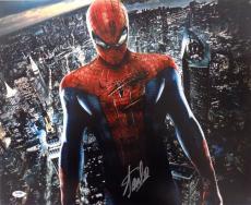 Stan Lee Marvel Comics Signed 16x20 Spiderman Photo PSA 6A28137