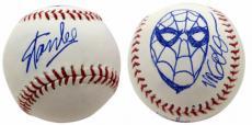 Stan Lee Marvel Comics Signed Baseball Michael Golden Spider-Man Sketch JSA 425