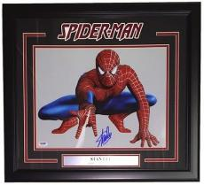 Stan Lee Marvel Comics Signed Framed 11x14 Spiderman Photo PSA 6A29201