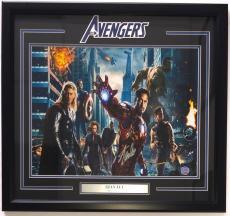 Stan Lee Marvel Comics Signed Framed 16x20 Avengers Photo JSA + Stan Lee Holo