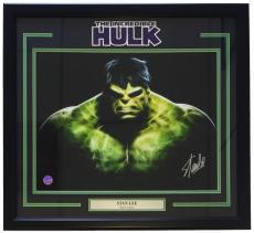 Stan Lee Marvel Comics Signed Framed 16x20 Hulk Photo Lee Holo