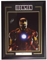 Stan Lee Marvel Comics Signed Framed 16x20 Ironman Metallic Photo JSA+Lee Holo