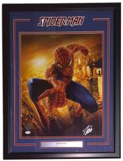 Stan Lee Marvel Comics Signed Framed 16x20 Spiderman Metallic Photo JSA+Lee Holo