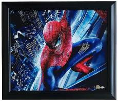 Stan Lee Marvel Comics Signed Framed 28x24 Spider-Man Canvas JSA ITP + Lee Holo