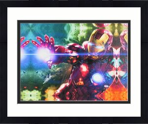 Stan Lee Marvel Signed 16x20 Iron Man Canvas Autographed PSA #W18515