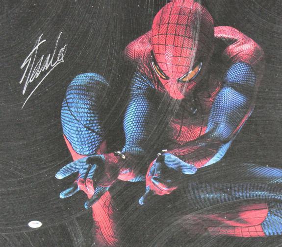 Stan Lee Marvel Signed 20x24 Spider-Man Canvas PSA/DNA #W18580