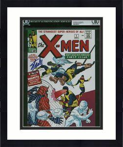 Stan Lee Marvel Signed 8x10 Photo Auto Graded Gem Mint 10! BAS Slabbed