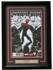 Stan Lee Marvel Signed Framed 11x17 Darkest Hours Spider-Man Photo JSA