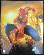 Stan Lee Marvel Spider-Man Autographed/Signed 16x20 Inch Photo LEE HOLO SLC54370