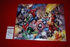 STAN LEE marvel spiderman deadpool captain america iron man signed JSA 16x20 5
