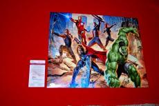 STAN LEE marvel spiderman deadpool captain america iron man signed JSA 16x20 8