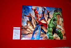 STAN LEE spiderman deadpool captain america iron man signed JSA 16x20 8 COA