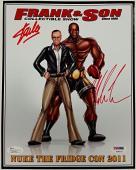 STAN LEE + MIKE TYSON Signed 8x10 Photo Autograph PSA/DNA COA X08072 + JSA
