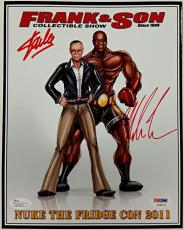 STAN LEE + MIKE TYSON Signed 8x10 Photo Autograph PSA/DNA COA X08072 + JSA