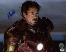 Stan Lee & Robert Downey Jr. Iron Man Signed 11X14 Photo Foam Mounted PSA M97483