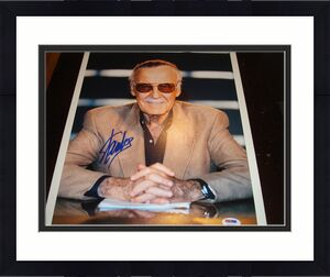 Stan Lee Signed 11x14 Photo PSA/DNA Autographed Incredible Hulk Spiderman 1B
