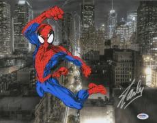Stan Lee Signed 11x14 Spiderman Spotlight Photo Marvel Comics PSA
