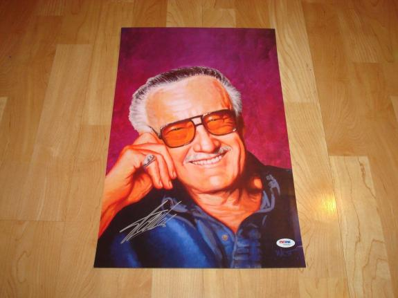 Stan Lee Signed 11x17 Poster PSA/DNA Autographed Incredible Hulk Spiderman 1A