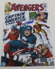 Stan Lee Signed 12x18 Photo Avengers Comic Cover Excelsior Hologram Exact Proof