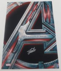 Stan Lee Signed 12x18 Photo Avengers Movie Poster Excelsior Holo Exact Proof