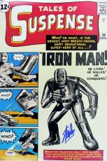 Stan Lee Signed 12X18 Photo Of Tales Of Suspense 39 Comic Iron Man PSA/DNA