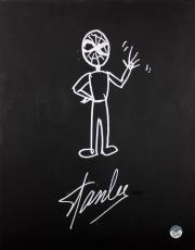 Stan Lee Signed 16x20 Canvas w/ Spider-man Sketch PSA/DNA #W00380