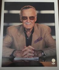 Stan Lee Signed 16x20 Photo Marvel Universe Avengers Iron Man Thor JSA COA 1