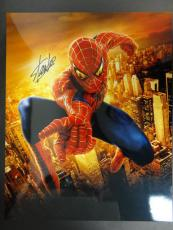 Stan Lee Signed 16x20 Spiderman Photo Autograph Auto PSA/DNA AA94370