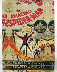 Stan Lee Signed 16X24 Amazing Spider-Man #1 Comic Canvas PSA #6A20990