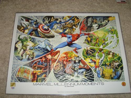 Stan Lee Signed 18x24 Marvel Millennium Moments Poster PSA/DNA Autographed