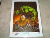 Stan Lee Signed 18x24 The Incredible Hulk Poster PSA/DNA Autographed