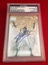 Stan Lee Signed 2014 Marvel Now! Alex Power Slabbed Card - PSA/DNA # 83583345