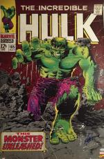 Stan Lee signed 24x36 Incredible Hulk poster! Marvel! JSA Witness Authenticated!