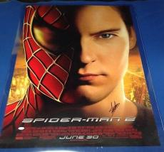 "Stan Lee signed 27"" X 40"" Spider-Man 2 Movie Poster JSA Cert # J27050"