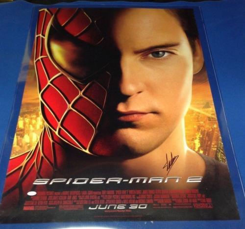 """Stan Lee signed 27"""" X 40"""" Spider-Man 2 Movie Poster JSA Cert # J27050"""