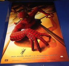 "Stan Lee signed 27"" X 40"" Spider-Man Movie Poster JSA Cert # J27051"