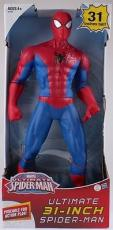 "Stan Lee Signed 31"" HUGE Ultimate Spiderman Marvel Figure W/ Stan Lee Hologram"